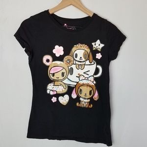 Tokidoki Graphic T-Shirt - Black - Size Small